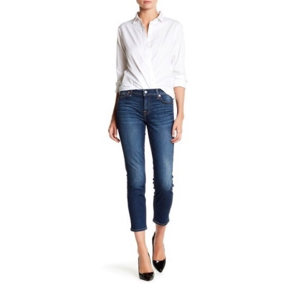 7 For All Mankind Denim - 7 For All Mankind 7FAMK Jeans Crop Roxanne Size 25